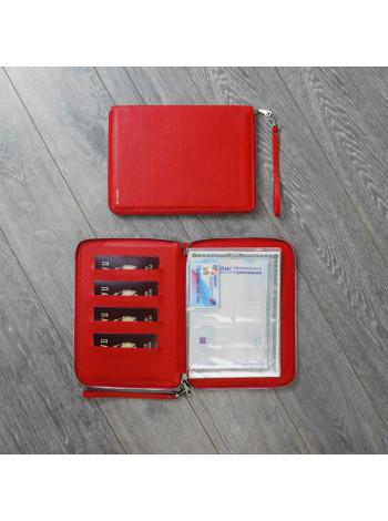 """Zip Folder А5 """"Флотер"""" красный"""