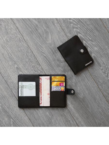 """Обложка для паспорта """"Флотер""""черный"""