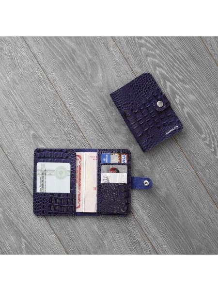 """Обложка для паспорта """"Кайман"""" фиолетовый"""