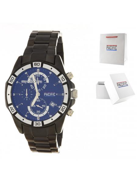 Pacific X0015 корп-чер циф-чер обод-бел браслет