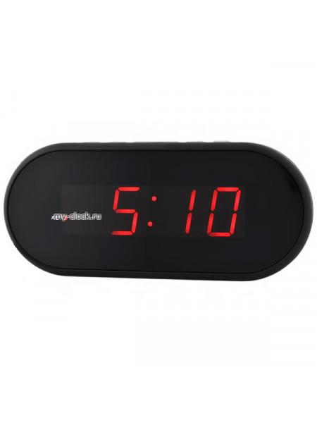 VST712-1 часы 220В крас.цифры-40+USB кабель (без адаптера)