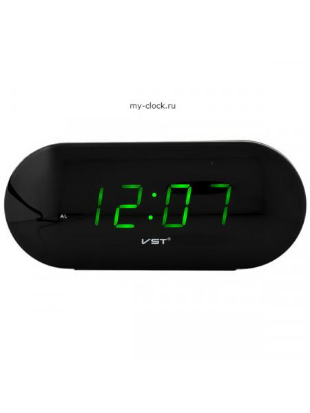 VST715-4 часы 220В зел.цифры+USB кабель (без адаптера)