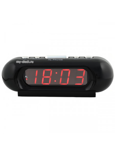 VST716-1 часы 220В красн.цифры-40 вилка со шнуром