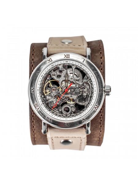 Часы скелетоны механические Desert на широком ремешке
