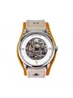 Часы скелетоны механические Mandarin на широком ремешке