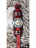 Часы скелетоны механические Navigator на широком ремешке