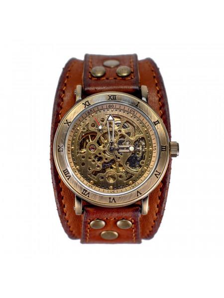 Часы скелетоны механические Gladiator на широком ремешке