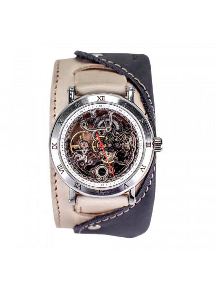 Часы скелетоны механические Martini 2.0 на широком ремешке