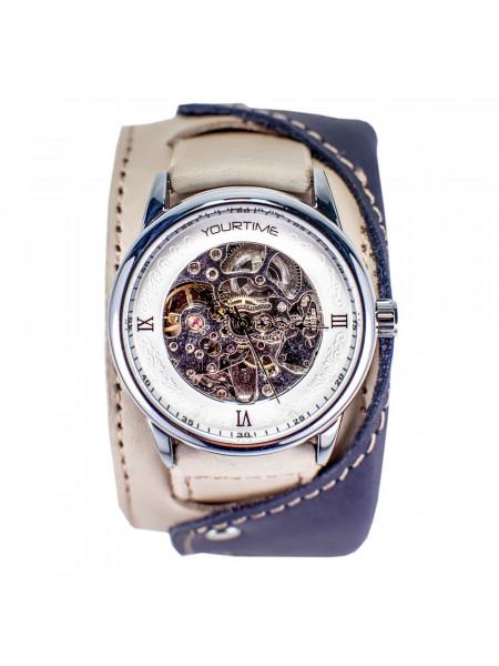 Часы скелетоны механические Fresh Air 2.0 на широком ремешке