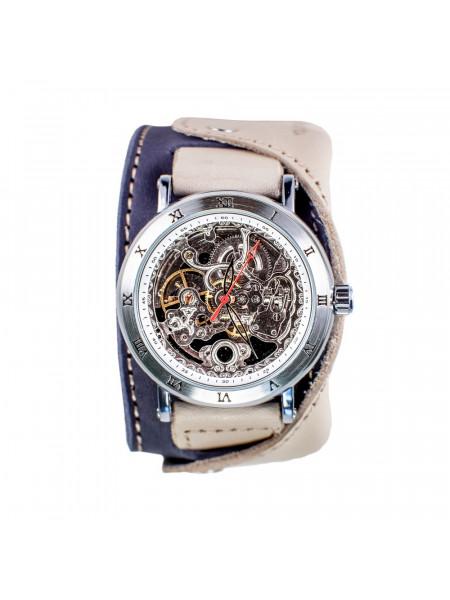 Часы скелетоны механические Martini на широком ремешке